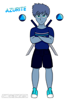 SU-OC-Azurite (Request) by Jchanel404