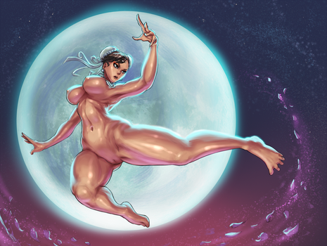 Chun-li - Street Fighter - commission [NSFW ver.] by cutesexyrobutts
