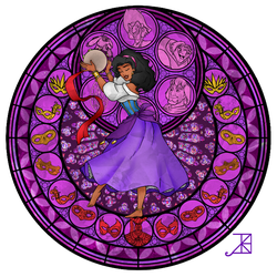Stained Glass: Esmeralda by Akili-Amethyst