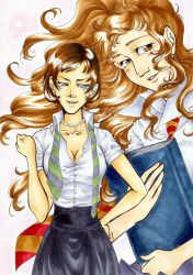 HP Pansy and Hermione by Honeyeater