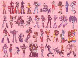 Female Autobots Decepticons by GreenWild