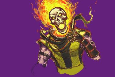 Mortal Kombat: Scorpion by rook-over-here