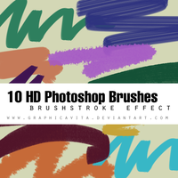 Brushstroke PS Brushes Pack by graphicavita