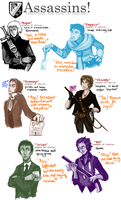 various assassins, etc by cathyOMG