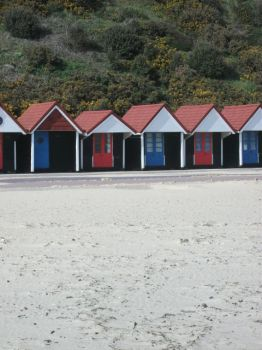 Beach Huts, Bournemouth by petrosinella