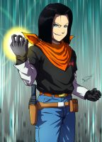 Commission : Android 17 by Deyvidson