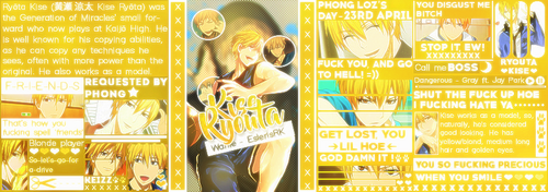 [Request - Slot 2] Iggy - Kise Ryouta by EslerisRK