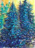 Blue Spruce by grogersart