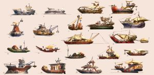 Junk Boat Thumbnails by MeckanicalMind