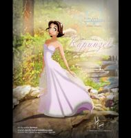 Rapunzel in Alfred Angelo Dress by AN-ChristianComics