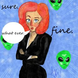 Scully doodle by PiskyPixie
