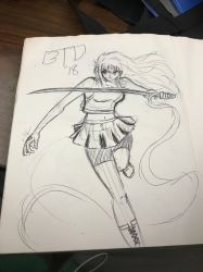 DD: quick sketch - Tetra Yushi  by Imbriaart