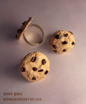 Chocolate Chip Cookie Rings by heysugar
