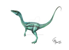 Compsognathus longipes by CamusAltamirano