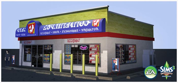 Sims 3: University Life- Convenience Store by TimothyAndersonArt