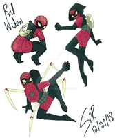 Red Widow (Spidersona) by Olkit