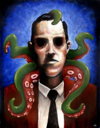 Lovecraft: A Portrait by mbielaczyc