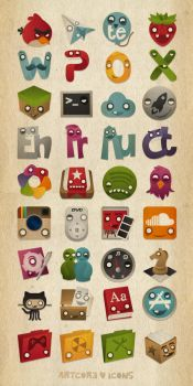 Artcore icons by artcoreillustrations