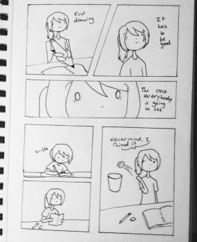 (Comic) first page of the sketch book by luko3artist