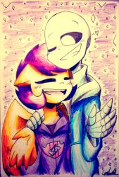 [gift] scootaloo loves sans by UnderMised