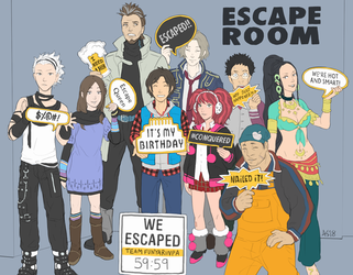 REAL Zero Escape by driftwoodwolf