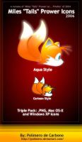Miles Tails Prower Icons by polimero