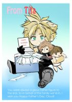 CLOUD STRIFE- Father's Day by Advent1989