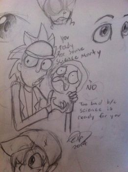 Rick and Morty by theStupidButterfly