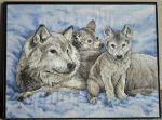 Mother Wolf and Pups by ReekaRose