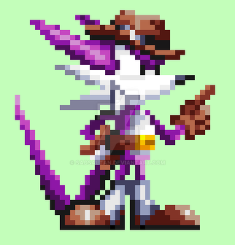 Fang the Sniper in Knuckles Chaotix style/SF S32x by Sadsaltan