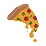 Pixel Art Pizza Slice by xenlith