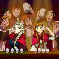 Elsa and Anna - BOTTOMS UP by mizzizabellaSMS