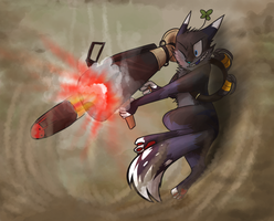 rocket launcher by CrookedLynx