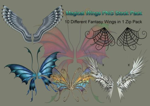 Magical Wings PNG Stock Pack by Roy3D