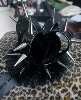 Black Gothic Spiked Mini Crown by Neumorin