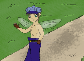 Another drawing of the Coin Faerie by Le-Smittee