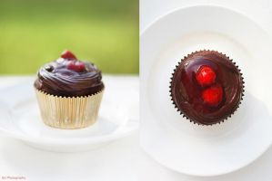 Black Forest Cupcake by MahaPhotography