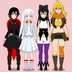 Team RWBY Export by MissPaunchyPersona