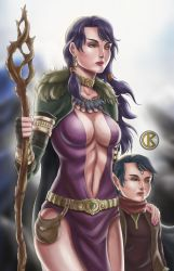 Morrigan and Child 2 by shrouded-artist