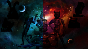 Star Wolf Project Background by Blacknightb