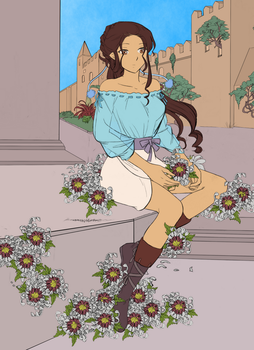 Flowers to the Empress +colored+ by aneolus