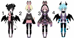 Pastel goth boys adoptable batch CLOSED by AS-Adoptables