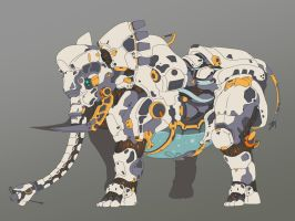 Horizon Zero Dawn - elephant by PureBoy1004