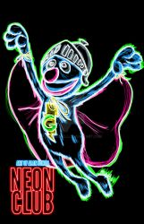 Super Grover neon by AlanSchell