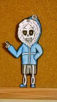 Undertale - Sans Chibi Paperchild by TheColorfulGeek123