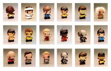 Star Trek Mini Munnys by EatToast