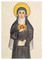 St. Gertrude the Great by mephetti