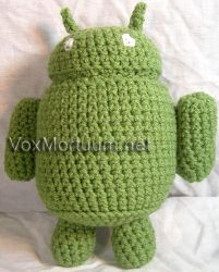 Android Mascot Crocheted Doll by voxmortuum
