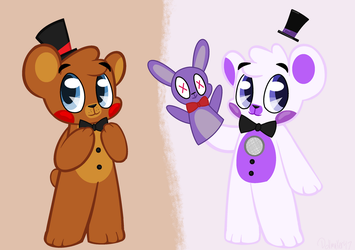 Toy Freddy and Funtime Freddy by Dollmaker47