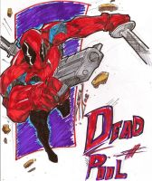 Dead Pool inked and colored by JoeyVazquez